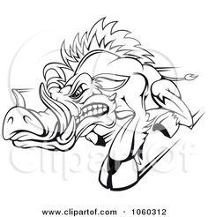 Razorback Boar Logo - 3 Posters, Art Prints by - Interior Wall Decor Razorback Wreath, Hog Dog, War Pigs, Homemade Fathers Day Gifts, Cartoon Fish, Arkansas Razorbacks, Stencil Patterns, Tattoo Stencils, Dog Art