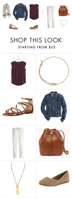 """""""maroon"""" by rainbow1975 ❤ liked on Polyvore featuring Madewell, Alex and Ani, Cole Haan, J.Crew, Miriam Merenfeld and TOMS"""