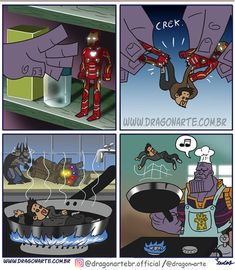 Eduardo Lucas Nascimento, known as Dragonarte, is a Brazilian comic artist. He draws Marvel and DC Comics universe in his own style Marvel Jokes, Marvel Dc Comics, Dc Comics Funny, Funny Marvel Memes, Dc Memes, Fun Comics, Thor Marvel, Avengers Characters, Avengers Art