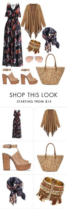 """""""vintage life '70"""" by elena78 on Polyvore featuring moda, Chicwish, Rebecca Minkoff, Straw Studios, Old Navy, Ray-Ban e vintage"""