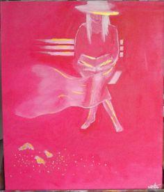 """Jeune fille au livre serie """"chromatismes""""  acrylique sur toile vendu"""