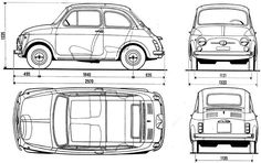 old fiat 500 dimensions - Google Search