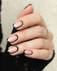 Interesting manicure that nice stands especially the ladies with cheese nail plate because it visually narrows.
