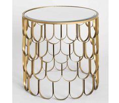 Shopping déco : on adopte la tendance métallique avec une table à écailles