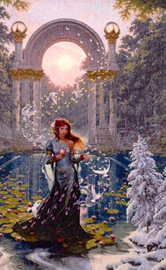 The Goddess Brighid crosses the Winter to bring us the Spring