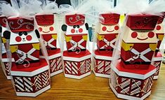 I turned ahexagon box, from the Pretty Packages Cricut Cartridge, into a drum for my Toy Soldiers. These were gifts for my co-workers. Th...
