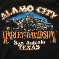 Vtg 98 Harley Davidson XXL Tshirt Alamo on Mercari Harley Davidson Posters, Harley Davidson Images, Harley Davidson T Shirts, Harley Davidson Dyna, Harley Davidson Motorcycles, Steve Harley, Harley T Shirts, Harley Dealer, Harley Davidson Dealership