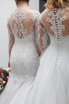 Our PRESCILLA and VICTORIA gowns from our Veluz 2016 RTW line. Both Ever After Bridal Inc exclusive gowns! See more here: http://eabridal.com/product-category/2016-collection/