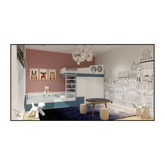 Versatility defines the way we designed the kids' room🧸 Suited for two children, we made sure it provides all the necessary zones for proper development such as the playground, bun beds, storage facilities, or the drawing space 🎨🖍️ Storage Facilities, Second Child, Playground, Design Projects, Beds, Kids Room, Drawing, Interior Design, Space