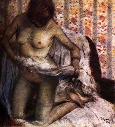 Edgar Degas - After the bath V