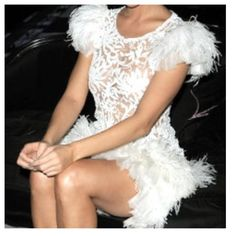 Lace & feathers. Feather Fashion, Girls Dresses, Flower Girl Dresses, Feathers, Wedding Dresses, Lace, Style, Dresses Of Girls, Bride Dresses