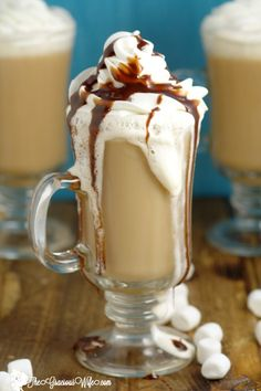 Homemade Marshmallow Coffee Creamer Recipe- A yummy, fun way to change up your morning coffee. It can be made in just 10 minutes, and is a great grown-up treat.