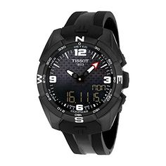 Men's Wrist Watches - Tissot Mens TTouch Expert Swiss Quartz Titanium and Silicone Dress Watch ColorBlack Model T0914204705701 -- To view further for this item, visit the image link.