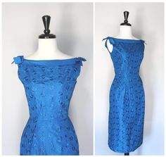 Gorgeous Electric Blue Eyelet Vintage 1950s by TheMermaidTattoo