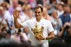 We've rounded up the best moments from the Wimbledon 2017 men's final, where Roger Federer beat Marin Cilic in straight sets to win his eighth Wimbledon title. Sport Man, Sport Girl, Kids Sports Party, Wimbledon 2017, Tennis Players Female, Career Inspiration, Andy Murray, Blue Streaks, Maria Sharapova