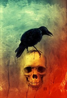 EDGAR ALLEN POE WROTE ABOUT THE RAVEN AND KNEW THE FELLOW IT'S SITTING ON FOR SOME TIME BEFORE HIS DEMISE…………ccp