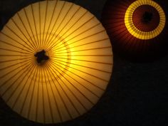 光の演出 和傘