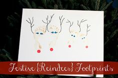 ... craft | Holiday | Pinterest | Footprint Crafts, Footprint and Deer