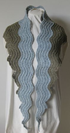 Claire Crompton -Old Shale Crochet Scarf