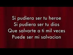 This video has the sound and lyrics of enriques song Heroe. I like that this video has it in spanish