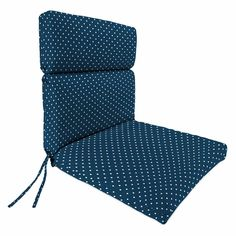 Outdoor 22 Inch X 44 Inch X 4 Inch Chair Cushion Blue Products