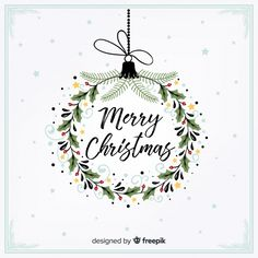 Discover thousands of free-copyright vectors on Freepik Christmas Doodles, Diy Christmas Cards, Christmas Printables, Xmas Cards, Christmas Art, Holiday Cards, Merry Christmas Wallpaper, Vector Christmas, Holiday Wallpaper