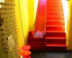 These stairs would really make getting to the basement fun!  (I remember being scared of going down to my grandparents dark basement as a kid :-D )