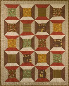Debbie Mumm free project! Like the big size of the spool blocks so you can feature cool fabrics.