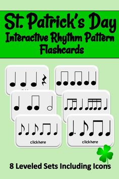 Elementary Music Education Resources. Lesson provides 8 leveled sets of 8 interactive rhythm reading flashcards for grades K-5. Set 1 uses iconic rhythm patterns for beginning musicians. Sets 2-8 use standard notation to challenge more accomplished students. Use cards for centers, to create accompaniment patterns, for improvisation and more. Have fun while building rhythm reading skills. Check out the preview at my TpT store. #musiceducation #elementarymus Music Activities, Reading Activities, Reading Skills, Reading Resources, Literacy Activities, Student Learning Objectives, Music Education Lessons, Reading Music, Elementary Music