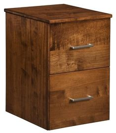 Amish Contemporary File Cabinet with Two Drawers Contemporary style wood furniture you can customize. Choose wood, stain and more for this durable, gorgeous file cabinet made in Amish country. #filecabinet #officefurniture