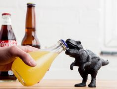 Perfect for any home, the T-Rex Bottle Opener is compatible with any type of glass bottle with a cap.