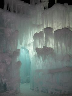 The Ice Castles at Silverthorne, Colorado