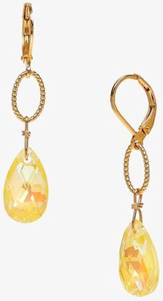 Classy yellow drop earrings.  http://rstyle.me/n/svf35bg7t7