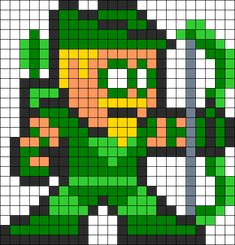 Green Arrow Perler Bead Pattern bead pattern