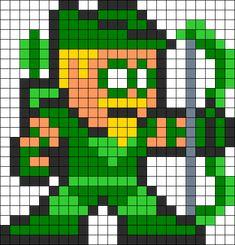 Green Arrow Perler Bead Pattern bead pattern