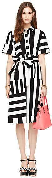 Multi stripe shirtdress
