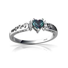 Alexandrite Filligree ring