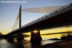 Sunset under the Lumberjack's Candle Bridge in Rovaniemi city center in Lapland in Finland Lappland, Santa Claus Village, Lapland Finland, Travel Around, Wonderful Places, Places To Go, Tourism, Scenery, Adventure