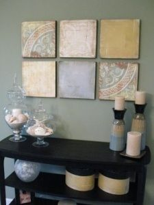 Scrapbook Paper Crafts And I just love this set up. So pretty.