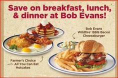 Bob Evans Restaurant: $3 off $10 Dine-In Purchase Coupon!