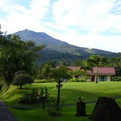 More of our landscape, with the Platanar Volcano and the Rooms
