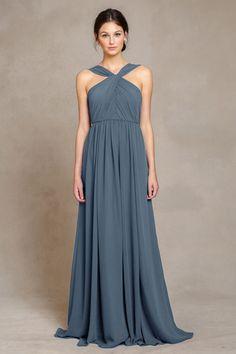 "Jenny Yoo - Luxe Chiffon dress in ""Turkish Blue"". Heaven."