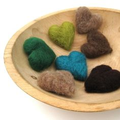Felt Hearts from SewnNatural on Etsy by judy