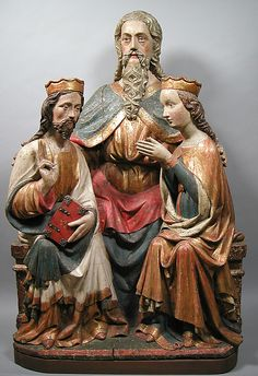 Coronation of the Virgin    Date:      15th century  Culture:      Austrian  Medium:      Lindenwood, paint