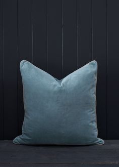 Double Sided Velvet cushion in Teal Blue | Also Home