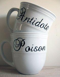 Poison/ antidote  cups  Custom Listing. $60.00, via Etsy.