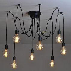 100 240 V Nouveauté Art Déco Moderne DIY plafonniers Lustre Lustre Bref fil suspendus lampes abajur lamparas de techo lampe dans Plafonniers de Lumières et Éclairage sur AliExpress.com | Alibaba Group