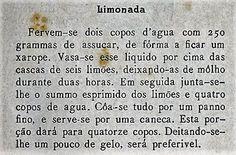 As Receitas da Avó Helena e da Avó Eduarda: Limonada