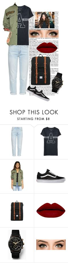 """""""Cascual fashionista"""" by jazpreet on Polyvore featuring MiH, Aéropostale, MadeWorn, Vans, Herschel Supply Co., Triwa, Kendall + Kylie, women's clothing, women and female"""