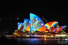 The Sydney Vivid Festival - one of the great free festivals in Australia for those on a budget